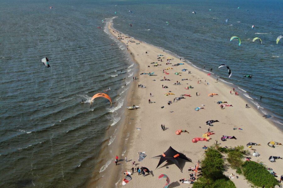 cypel raj dla kitesurferow
