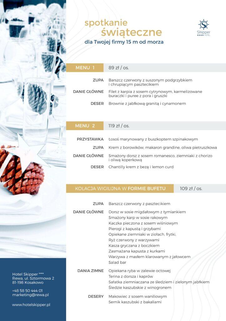 menu wigilii dla firm